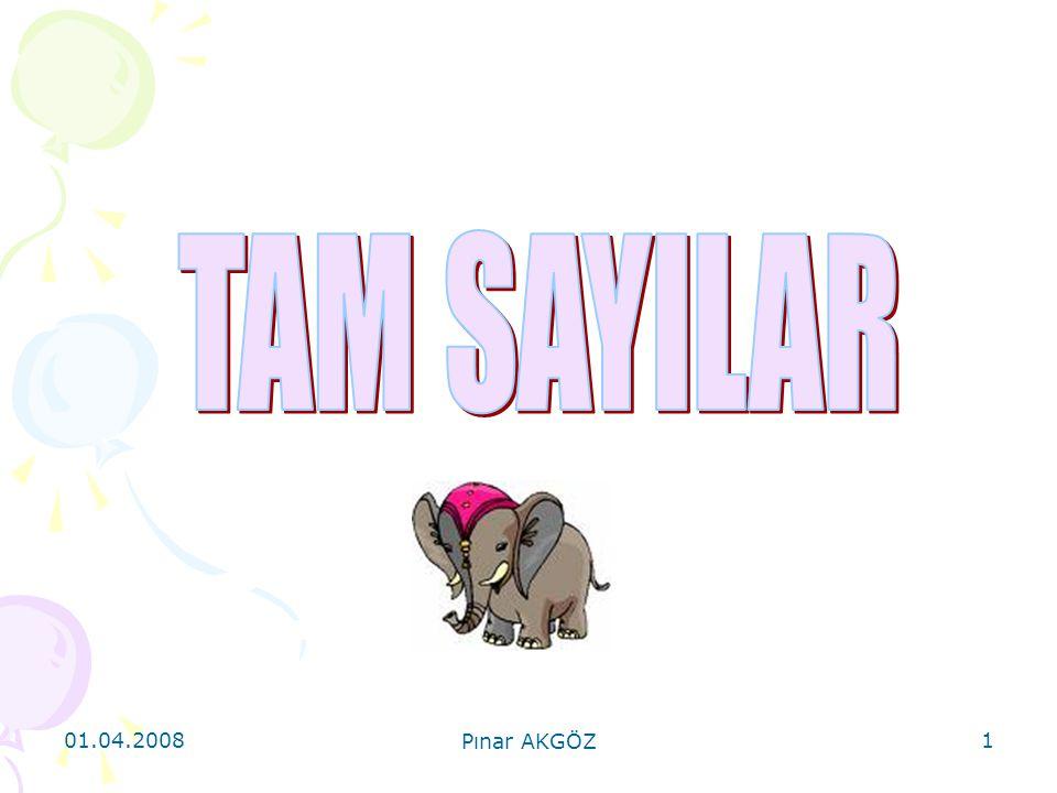 01.04.2008 Pınar AKGÖZ 2 A.TANIMLAR  Z = {..., – n,...
