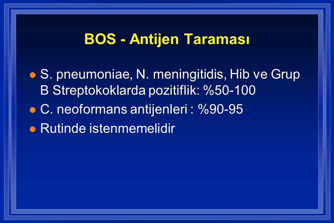 BOS - Antijen Taraması l S.pneumoniae, N.