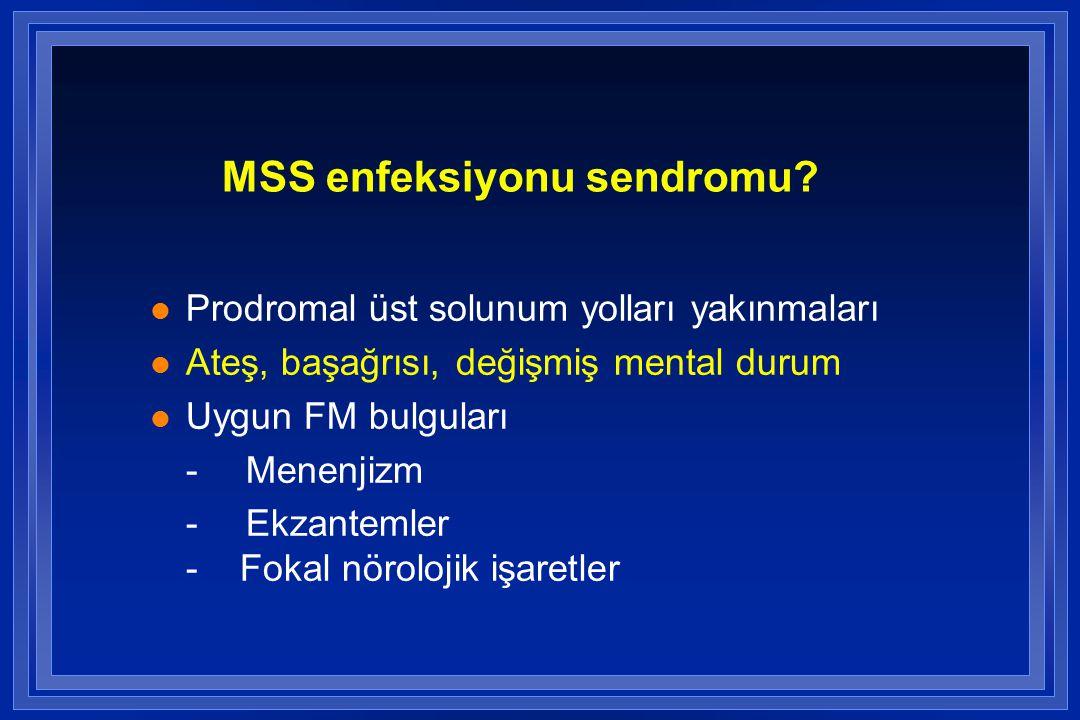 ETKENLER Predispozan faktör Immunokompromise hasta Basilar kafatası kırığı KAFA travması; beyin cerrahisi sonrası Şant Sık etkenler S.