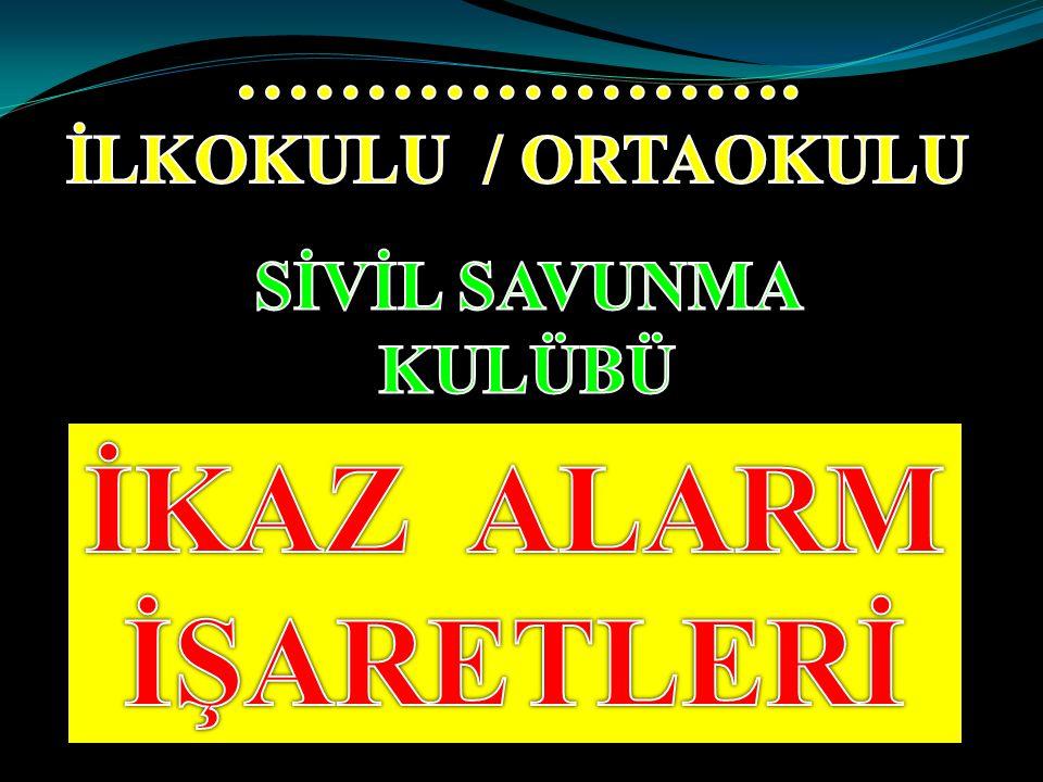İKAZ VE ALARM İkaz ve Alarm Sistemlerinin amacı, düşman saldırısını önceden haber almak ve tehlikeye karşı halkı uyararak bir takım önlemlerin alınmasını sağlamaktır.