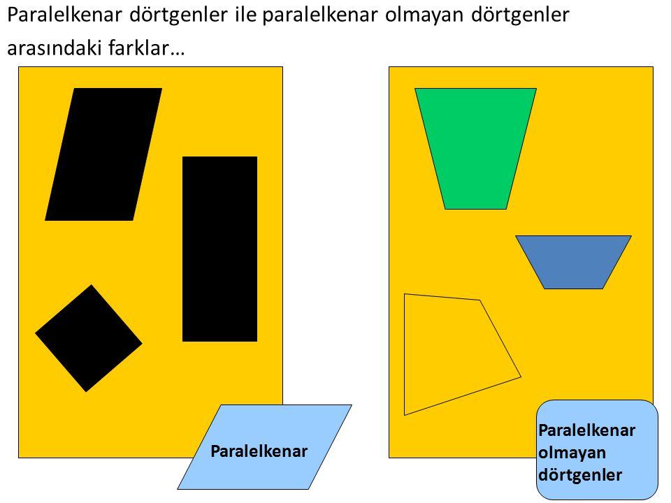 Paralelkenar olmayan dörtgenler Paralelkenar dörtgenler ile paralelkenar olmayan dörtgenler arasındaki farklar…