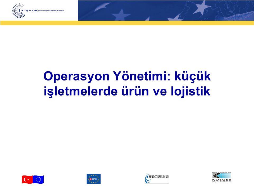 Operasyon Yönetimi: küçük işletmelerde ürün ve lojistik 2 4-2 Operasyon ne anlama gelir.