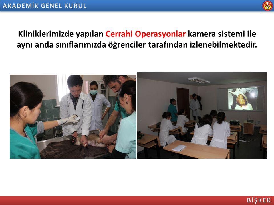 Kliniklerimizde yapılan Cerrahi Operasyonlar kamera sistemi ile aynı anda sınıflarımızda öğrenciler tarafından izlenebilmektedir.