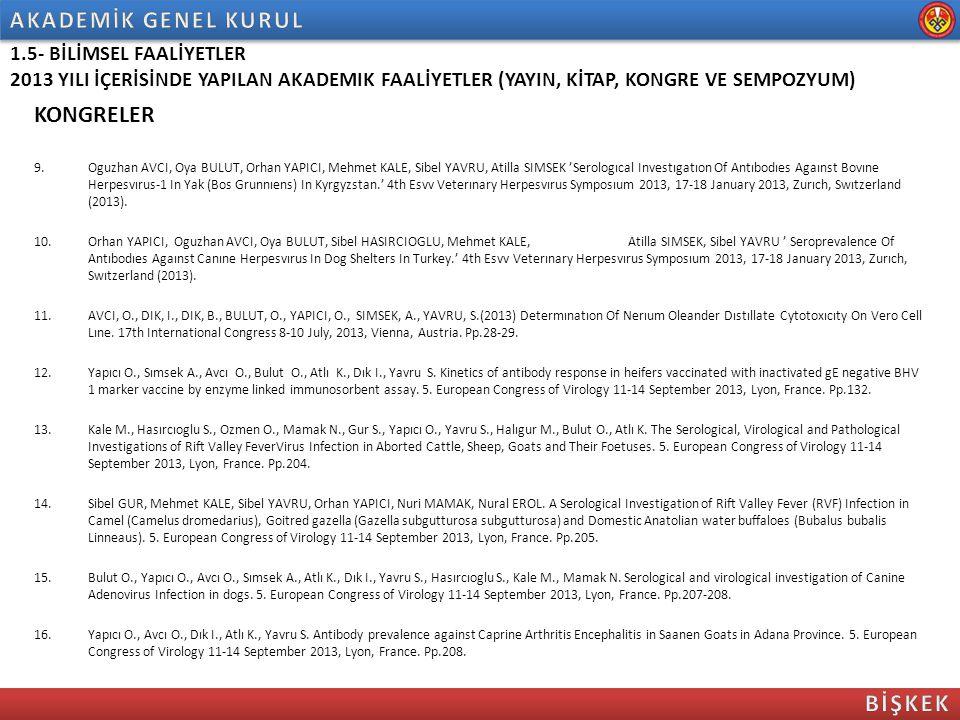 KONGRELER 9.Oguzhan AVCI, Oya BULUT, Orhan YAPICI, Mehmet KALE, Sibel YAVRU, Atilla SIMSEK 'Serologıcal Investıgatıon Of Antıbodıes Agaınst Bovıne Her