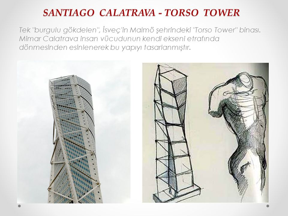 SANTIAGO CALATRAVA - TORSO TOWER Tek