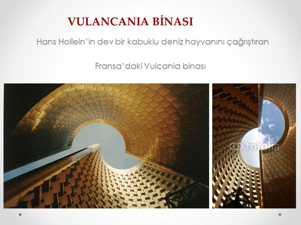 Hans Hollein'in dev bir kabuklu deniz hayvanını çağrıştıran Fransa'daki Vulcania binası Hans Hollein'in dev bir kabuklu deniz hayvanını çağrıştıran Fr