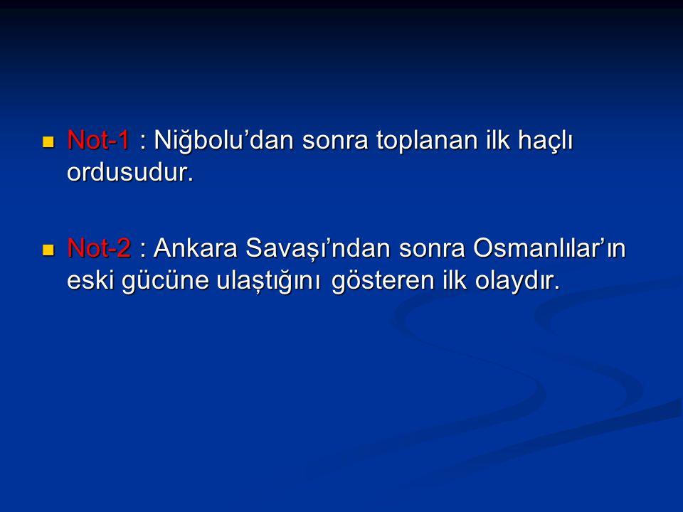Not-1 : Niğbolu'dan sonra toplanan ilk haçlı ordusudur. Not-1 : Niğbolu'dan sonra toplanan ilk haçlı ordusudur. Not-2 : Ankara Savaşı'ndan sonra Osman