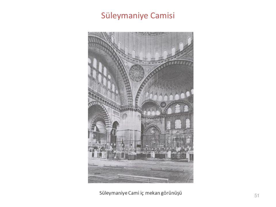 51 Süleymaniye Camisi Süleymaniye Cami iç mekan görünüşü