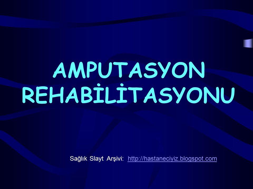 Amputasyon öncesi dönemde başlayıp kişinin protezini başarı ile kullanarak toplumla yeniden bütünleşmesine ve mesleğine geri dönmesine kadar devam eden bir süreci içine alan rehabilitasyon çalışmalarının tümüne ampute rehabilitasyonu denir.