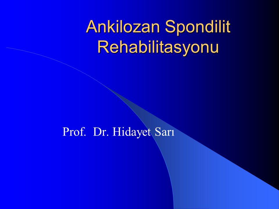 Tanım Özellikle omurgayı tutan ve ankiloza götüren kronik iltihabi sistemik romatizmal hastalıktır.