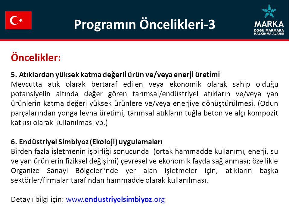 Programın Öncelikleri-3 Öncelikler: 5.