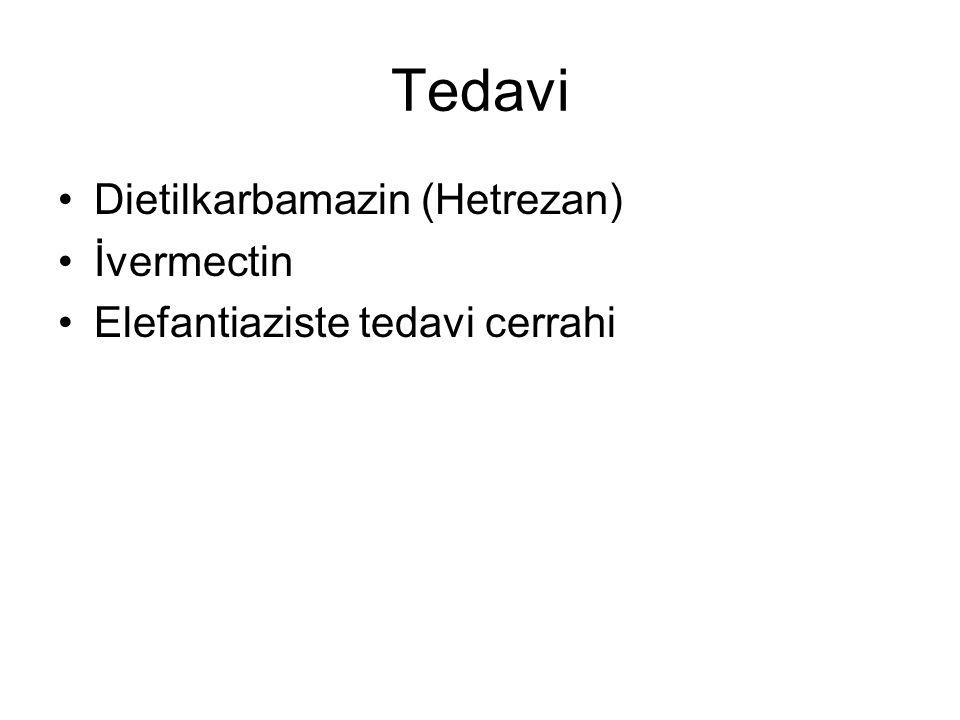 Tedavi Dietilkarbamazin (Hetrezan) İvermectin Elefantiaziste tedavi cerrahi