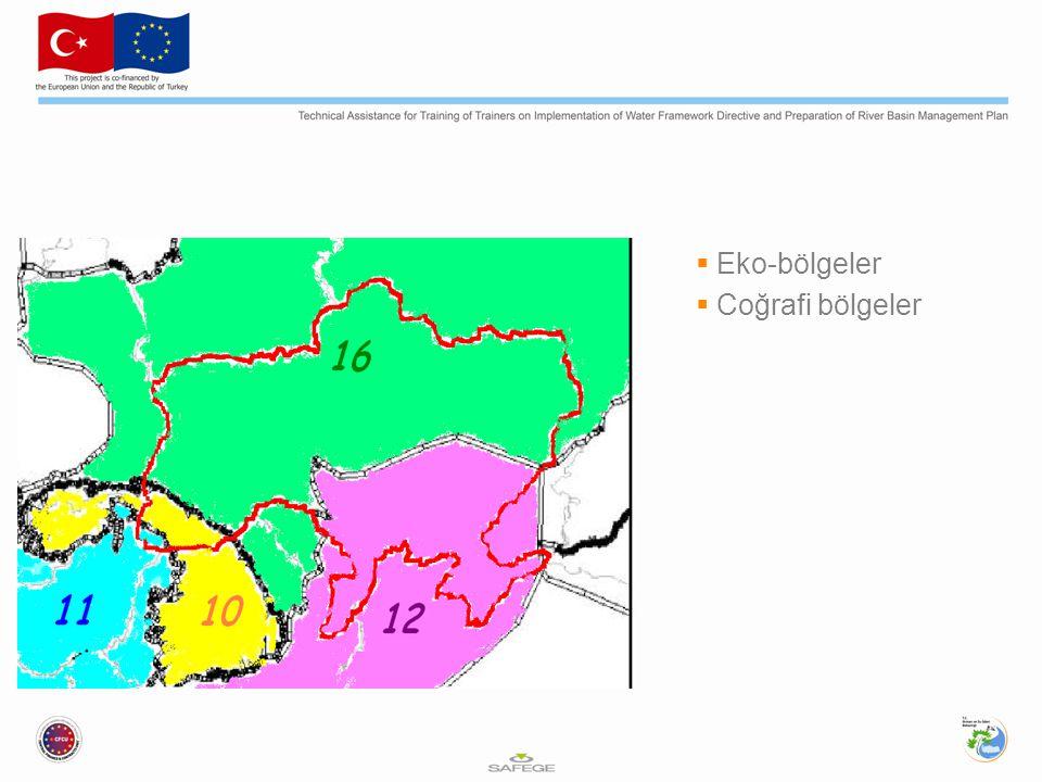  Eko-bölgeler  Coğrafi bölgeler