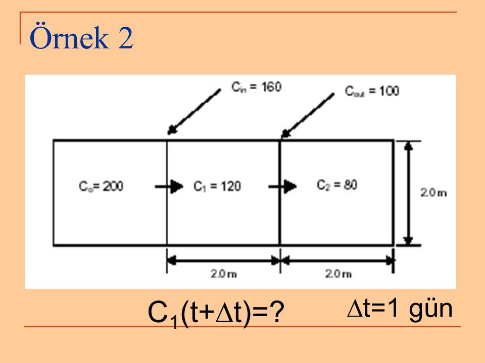 Örnek 2 C 1 (t+  t)=?  t=1 gün