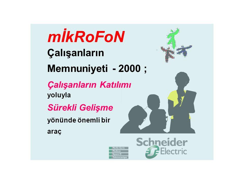 Çalışanların Memnuniyeti - 2000 ; Çalışanların Katılımı yoluyla Sürekli Gelişme yönünde önemli bir araç mİkRoFoN