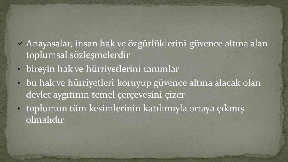 Anayasa değişiklikleri ve anayasanın değiştirilemez maddeleri Prof.
