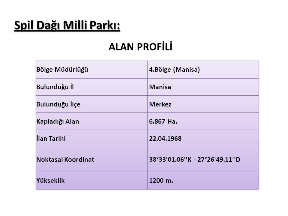 Spil Dağı Milli Parkı: ALAN PROFİLİ
