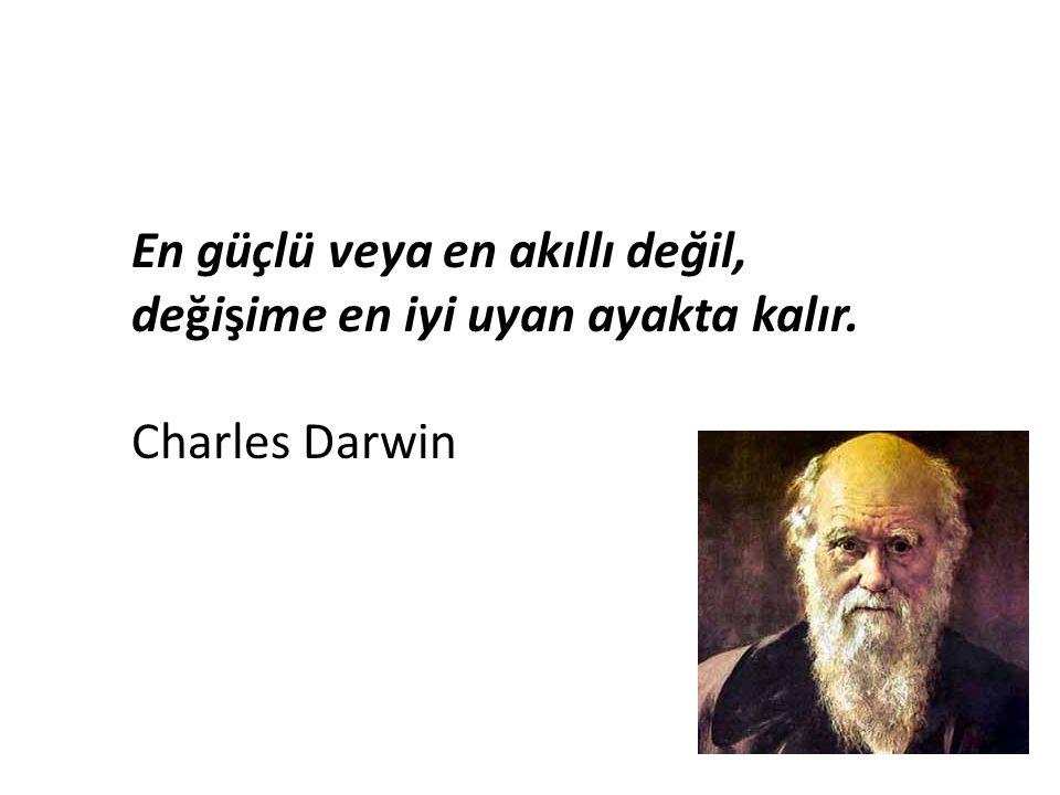 En güçlü veya en akıllı değil, değişime en iyi uyan ayakta kalır. Charles Darwin