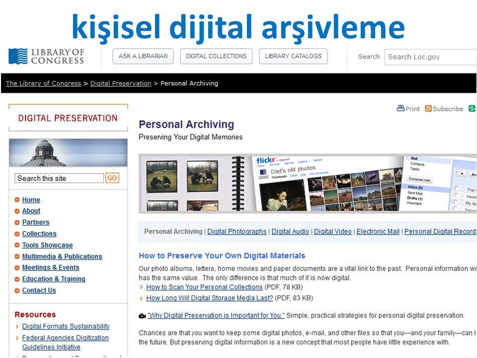 kişisel dijital arşivleme