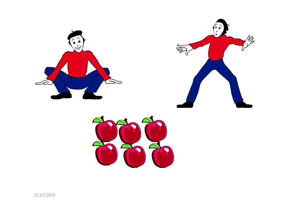 Soru: 2 kişi 6 tane elmayı eşit olarak paylaşıyor. Her çocuğa kaç elma düşer? 25.07.2010