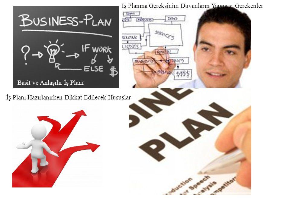 Basit ve Anlaşılır İş Planı İş Planına Gereksinim Duyanların Yapması Gerekenler İş Planı Hazırlanırken Dikkat Edilecek Hususlar