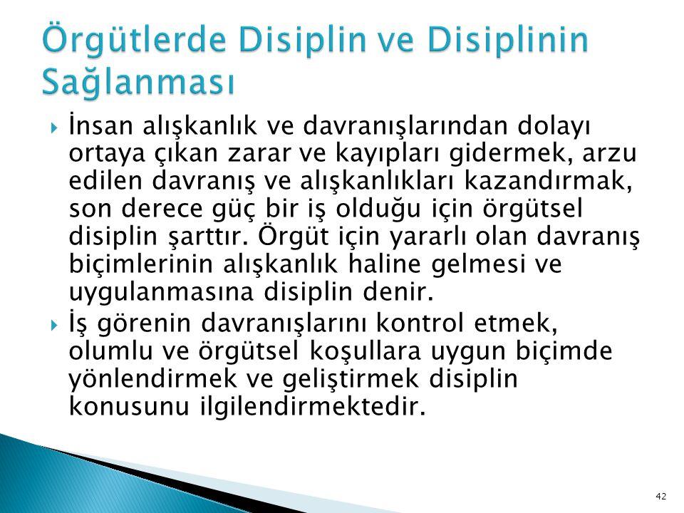  Disiplin kelimesi uygulamada ceza verme ile eş anlamlı olarak kullanılmaktadır, cezalandırma disiplin kavramının küçük bir parçasını oluşturur ve ancak iyileştirici ve yönlendirici tüm girişimlerin olumlu sonuç vermediği durumlarda sınırlı biçimde kullanılan bir araç olmalıdır.
