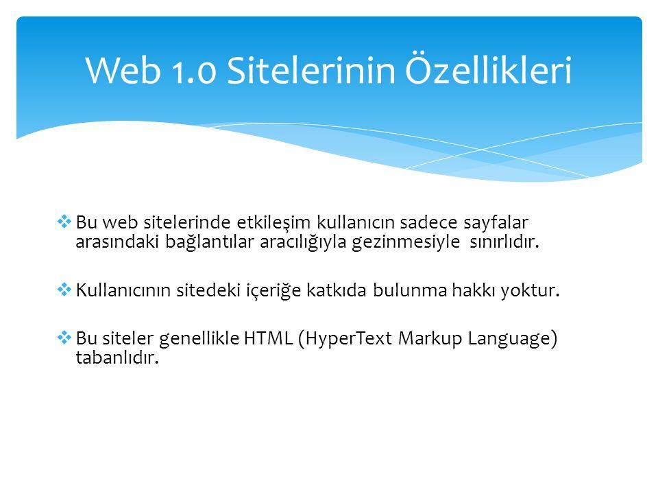  Bu web sitelerinde etkileşim kullanıcın sadece sayfalar arasındaki bağlantılar aracılığıyla gezinmesiyle sınırlıdır.