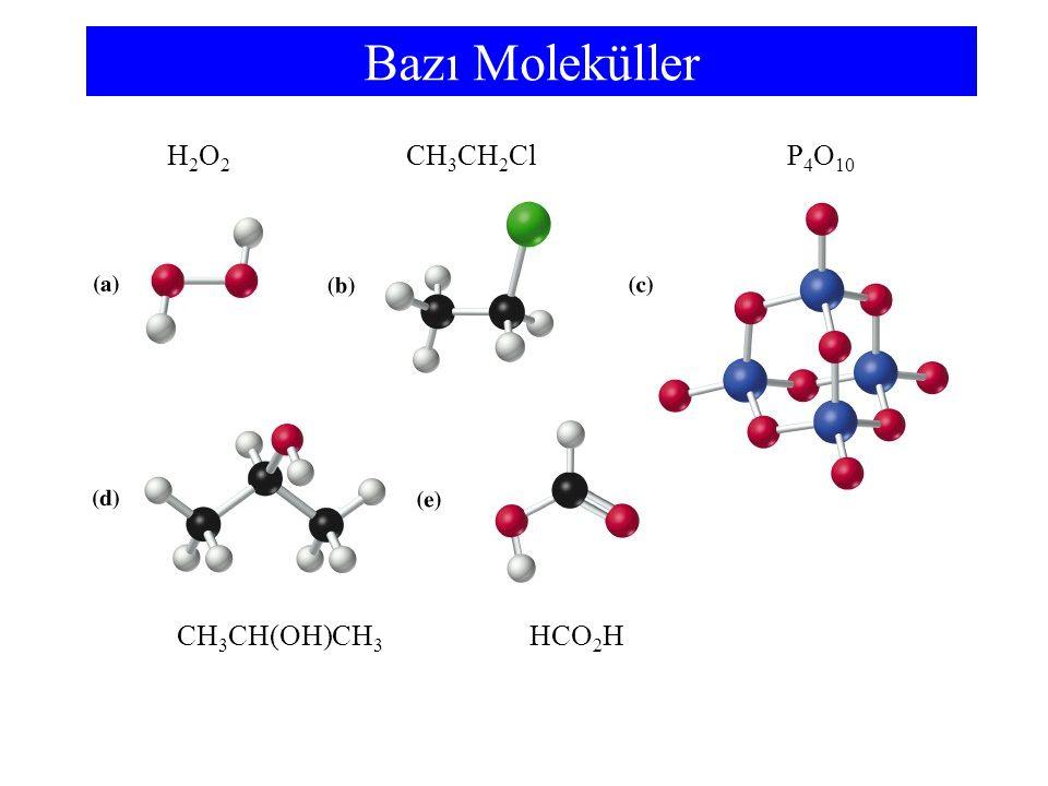 İki Ametalin İkili Bileşikleri mono1penta5 di2hekza6 tri3hepta7 tetra4okta8 Molekül Bileşikler Genellikle pozitif Y.B.na sahip element önce yazılır - HCl hidrojen klorür Bazı metal çiftleri birden çok bileşik yaparlar ve bunların adları farklıdır.
