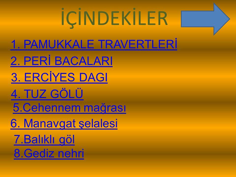 PAMUKKALE TRAVERTENLERİ Traverten, kimyasal çökelmeyle oluşan bir kaya türüdür.