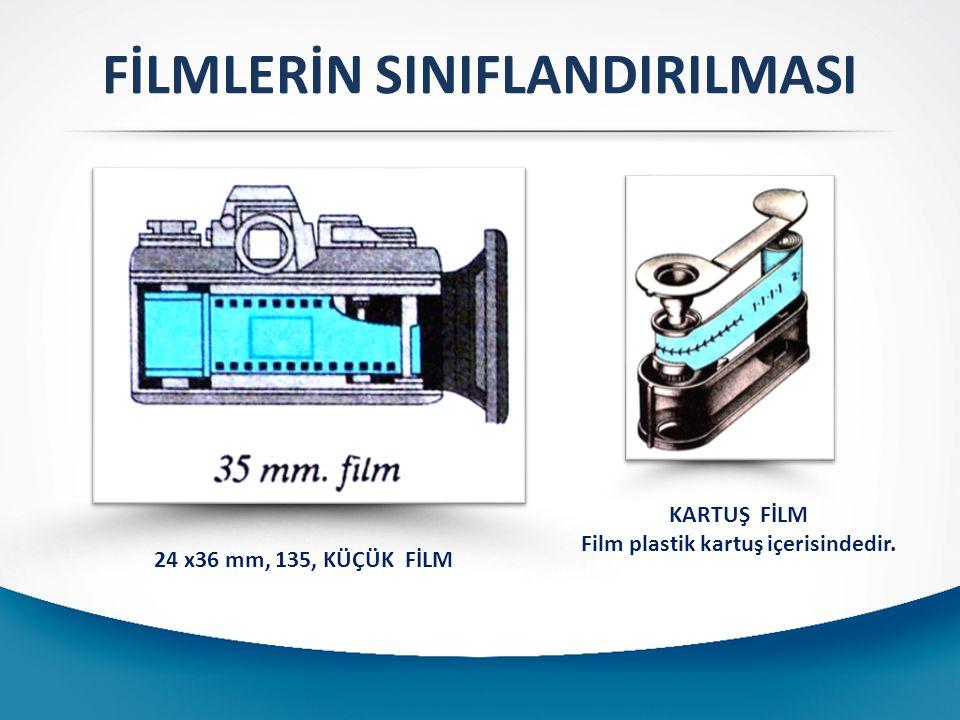 5-) Filmlerin hızlarına göre sınıflandırması: Her film aynı şiddetteki ışıktan aynı oranda etkilenmez.