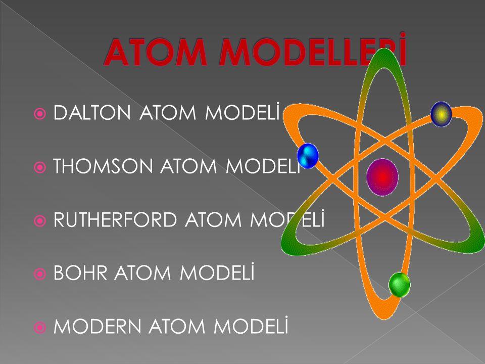  Rutherford, atomun kütlesini yaklaşık olarak çekirdeğin kütlesine eşit olduğunu ve elektronlarında çekirdek etrafındaki yörüngelerde döndüğünü ileri sürmüştür.