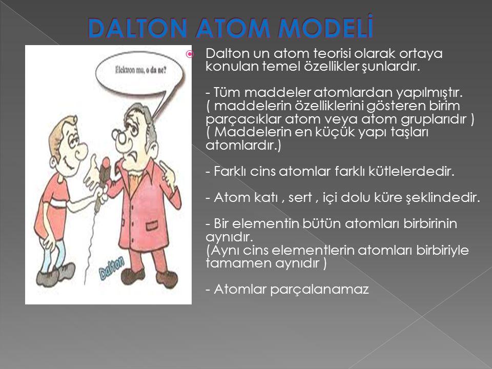  1830 lu yıllardaki çalışmalarında atom modelini üzümlü keke benzetmiştir.