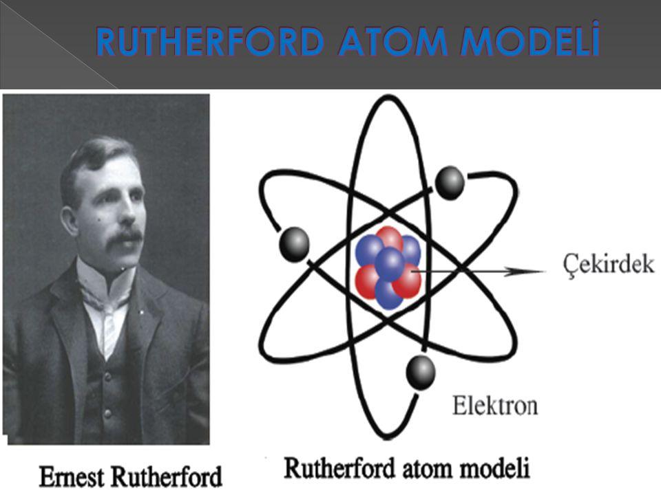  Rutherford atom modeli, Ernest Rutherford tarafından 1911 yılında ortaya konan fiziksel model.