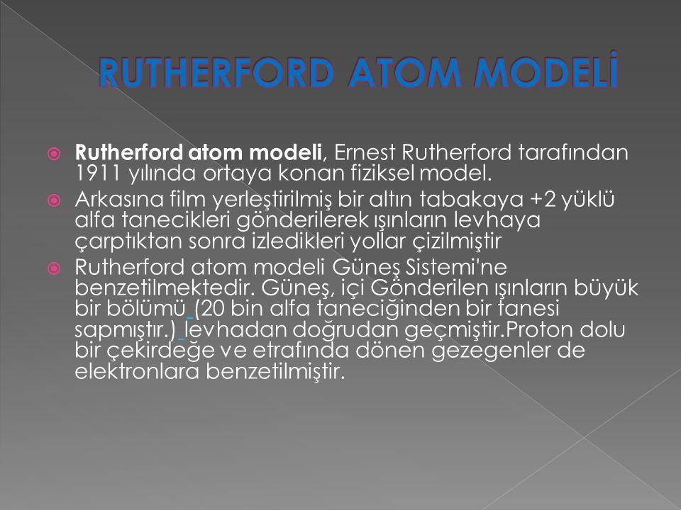  Modern atom modeli, atom yapısı ve davranışlarını diğer atom modellerine göre, daha iyi açıklamaktadır.