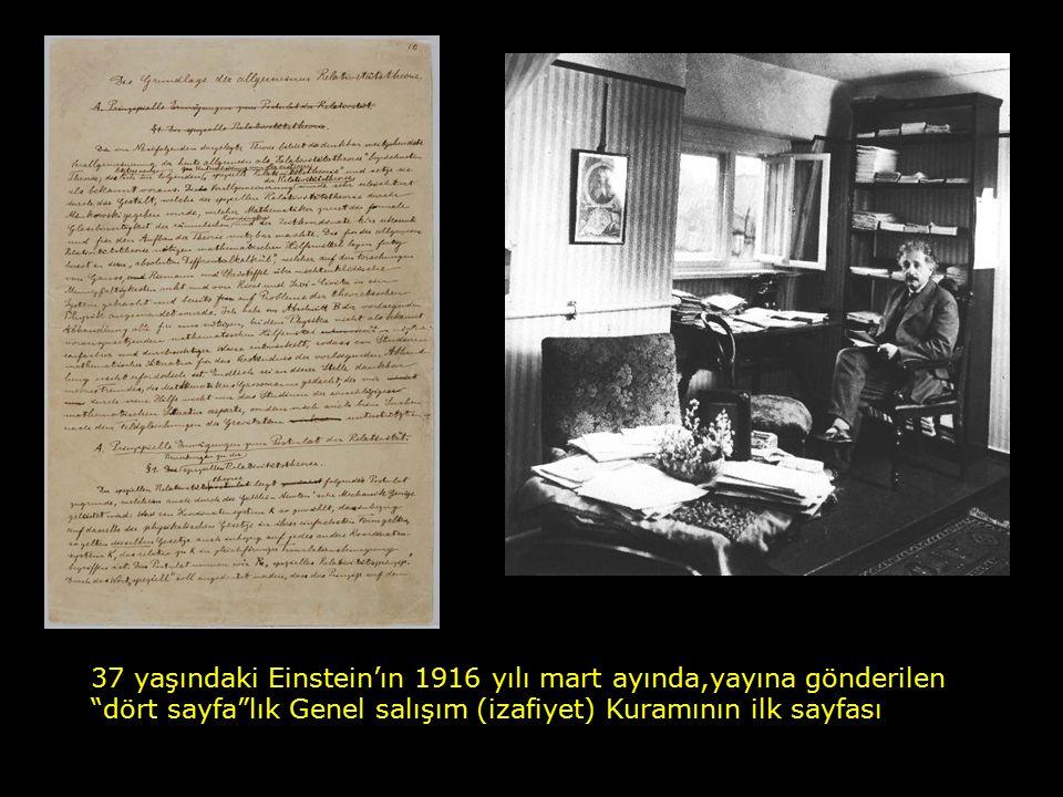 """EINSTEIN'NIN """"HARİKA YILI"""" 1905 yılında (26 yaşında) yayınlananlar : 1. Planck'ın Kuvantum Kuramındaki Fotoelektrik Etki 2. Özel salışım (İzafiyet) Ku"""