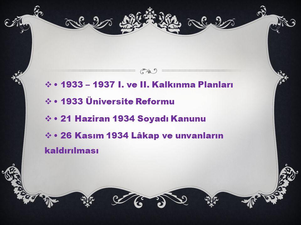  1933 – 1937 I.ve II.