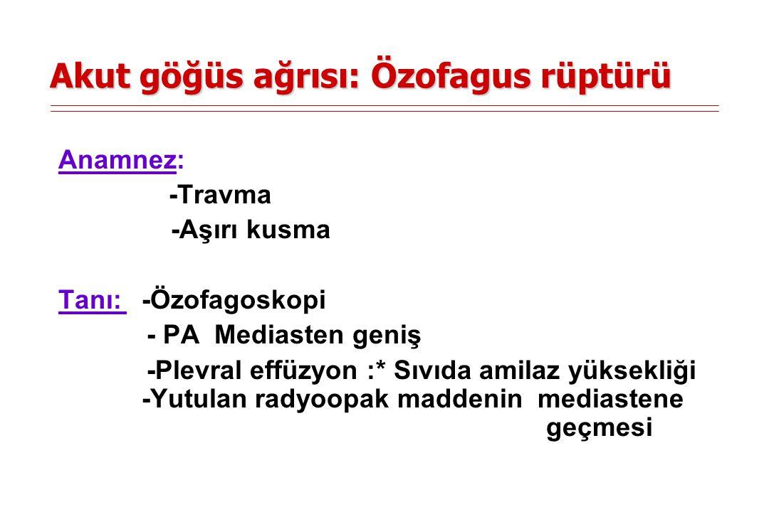 Akut göğüs ağrısı: Orak hücreli anemi -Fonksiyonel aspleni pnömoni => Ağrı -Mikrovasküler tromboz