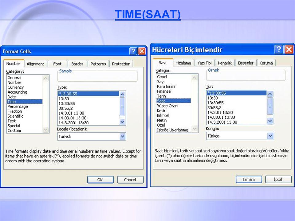 TIME(SAAT)