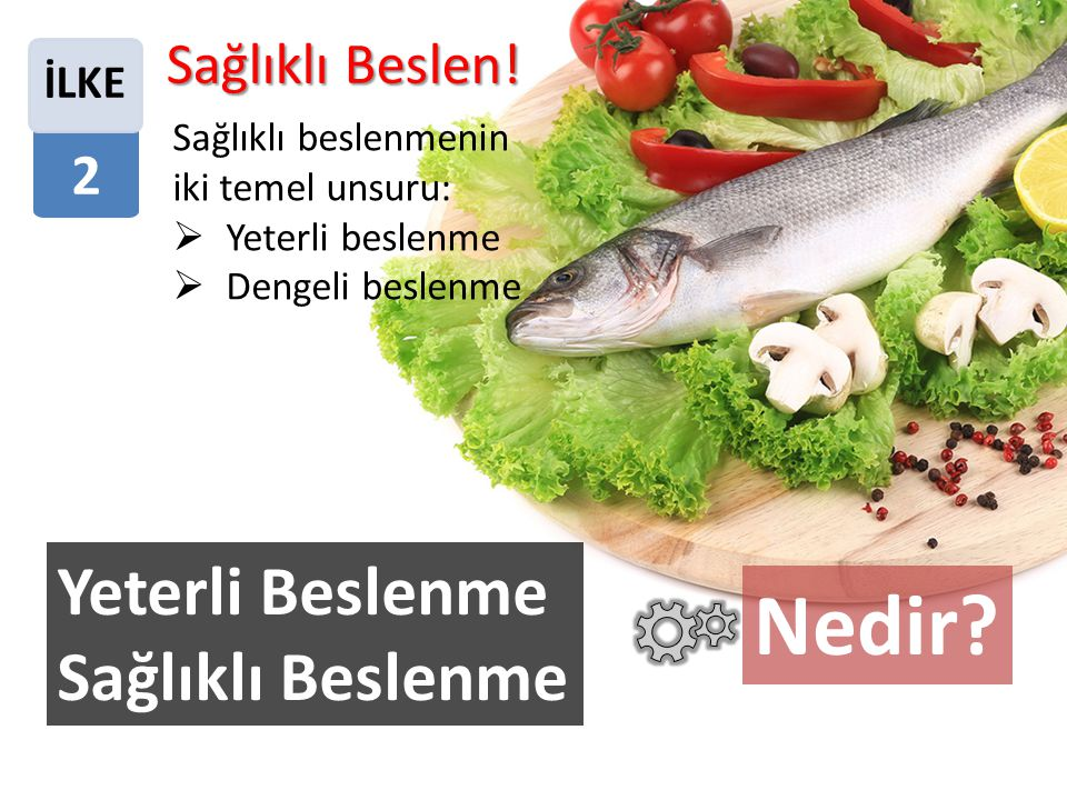 Sağlıklı beslenmenin iki temel unsuru: YYeterli beslenme DDengeli beslenme Sağlıklı Beslen.