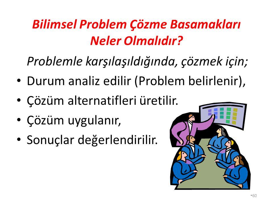 59 A-PROBLEM ÇÖZMENİN ÖNEMİ Problem nedir? Sosyal hayatta problem; insanı veya insan grubunu, fikri veya zihni yönden rahatsız eden durum olarak tanım