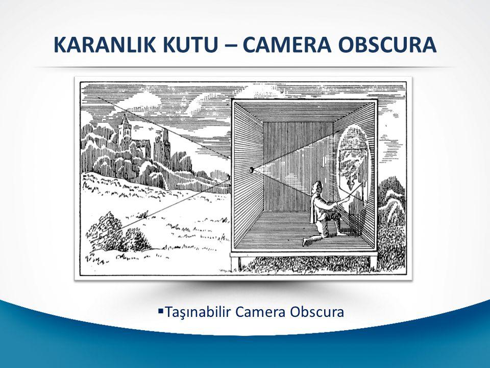 KARANLIK KUTU – CAMERA OBSCURA  Taşınabilir Camera Obscura