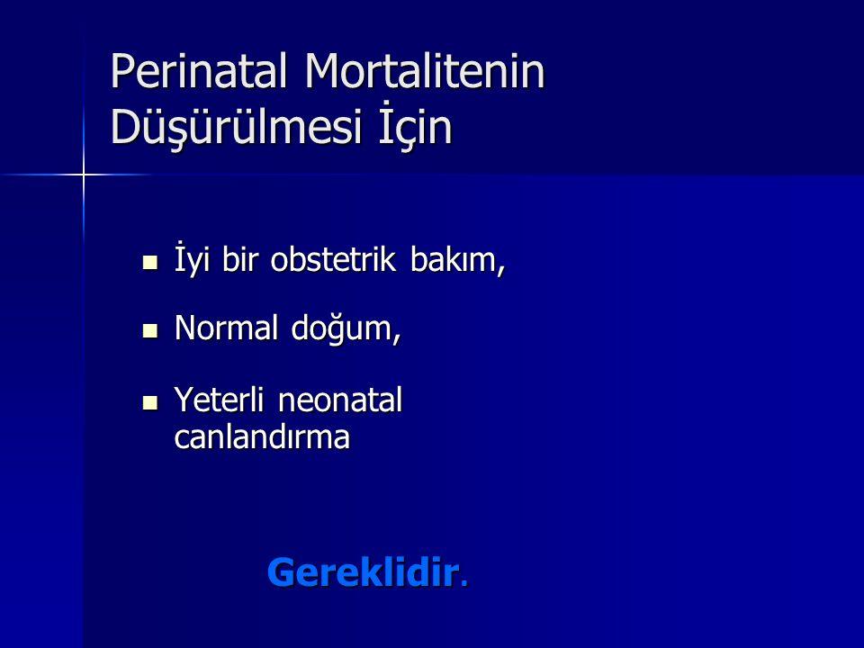 İyi bir obstetrik bakım, İyi bir obstetrik bakım, Normal doğum, Normal doğum, Yeterli neonatal canlandırma Yeterli neonatal canlandırma Gereklidir.