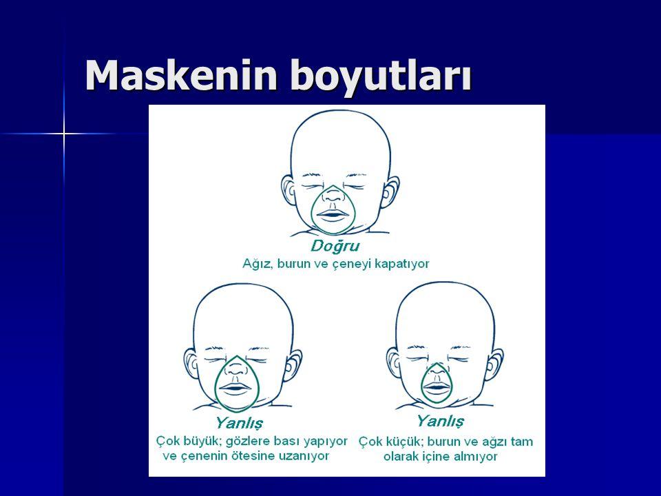 Maskenin boyutları