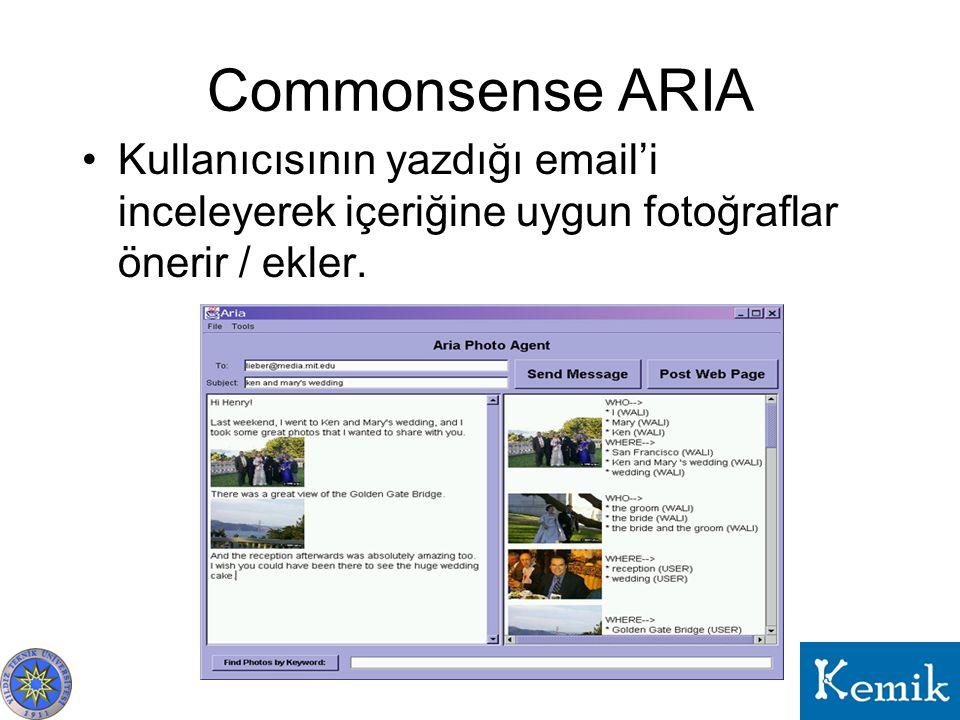 Commonsense ARIA Kullanıcısının yazdığı email'i inceleyerek içeriğine uygun fotoğraflar önerir / ekler.