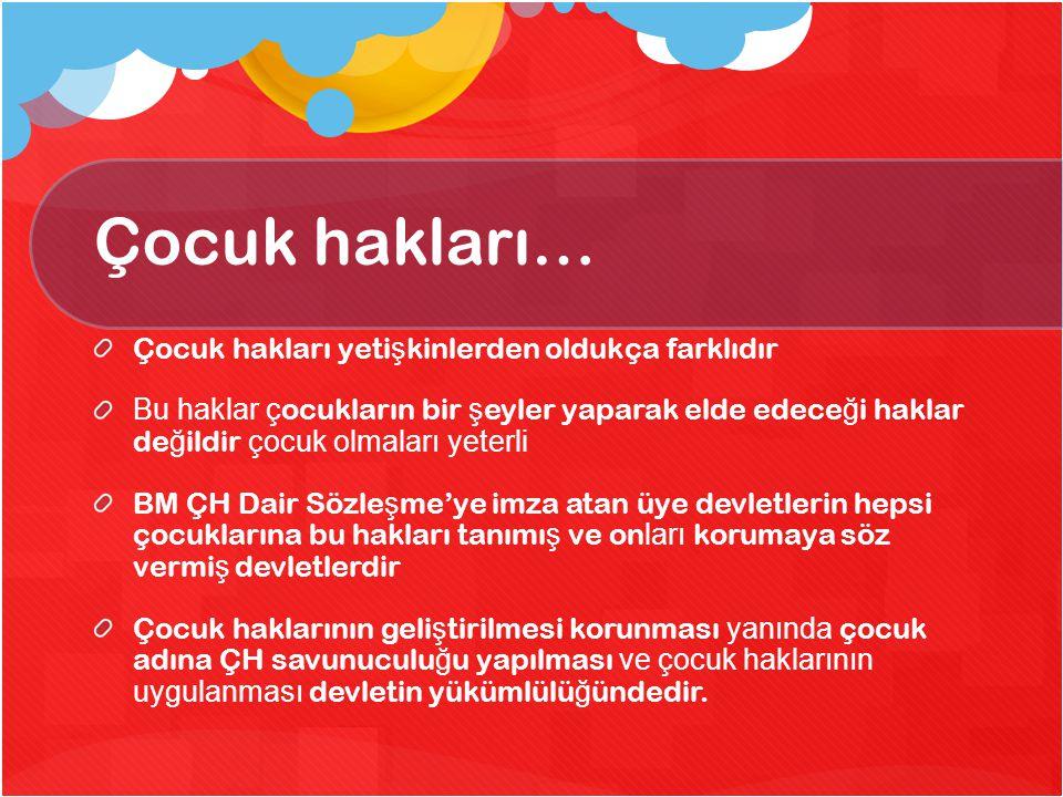 Türkiye'de durum toplumsal cinsiyet e ş itsizlikleri, tutarlı çocuk ve gençlik politikalarının ve yasal çerçevenin yoklu ğ u, terörizm, gibi etmenlerin tümü Türkiye'deki çocukların durumu üzerinde rol oynamaktadır.
