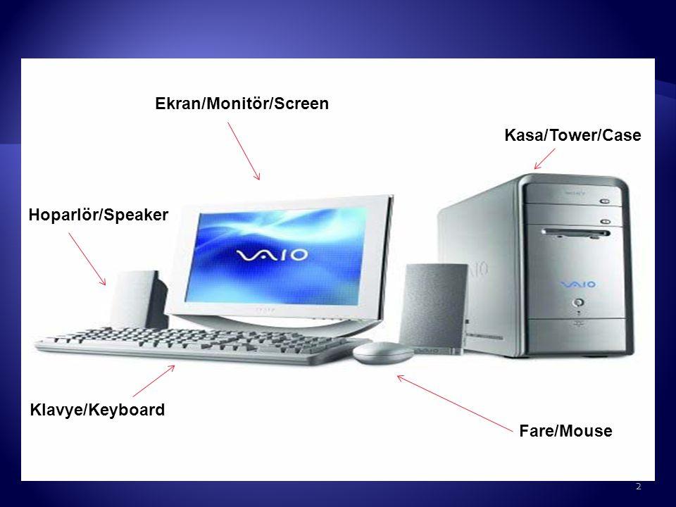 Kasa/Tower/Case Klavye/Keyboard Fare/Mouse Ekran/Monitör/Screen Hoparlör/Speaker 2