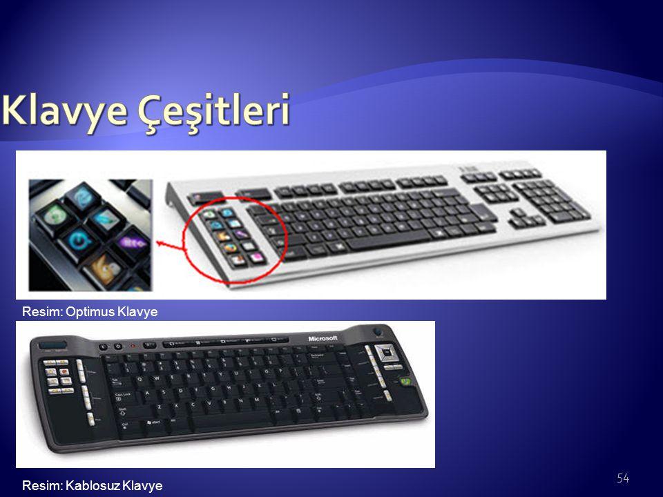 54 Resim: Optimus Klavye Resim: Kablosuz Klavye