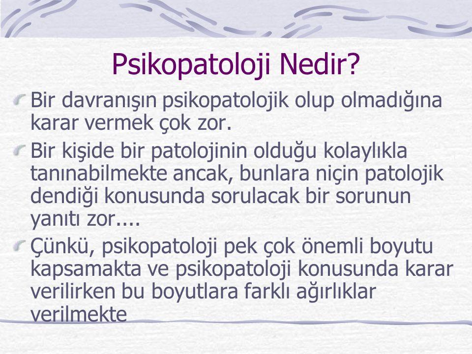 Psikopatoloji Nedir.Bir davranışın psikopatolojik olup olmadığına karar vermek çok zor.