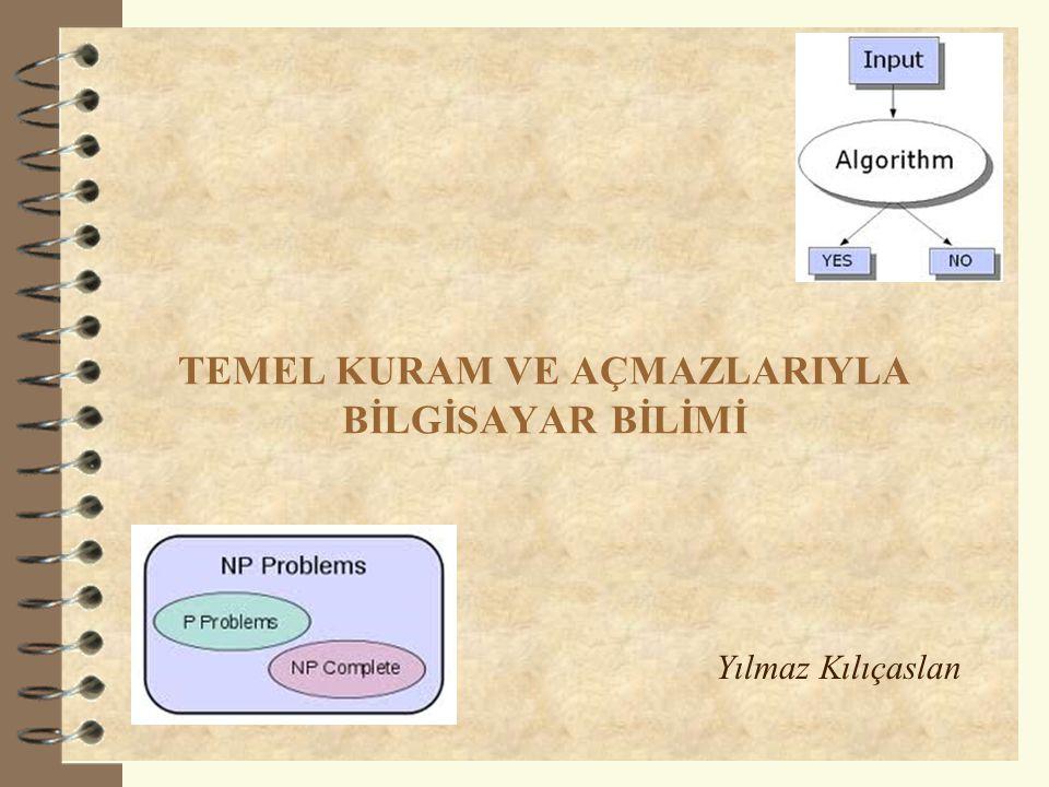 Sunum Planı  Hilbert'in Problemi  Hilbert'e Yanıtlar  Bilgisayar Bilimi –Bilgisayım Kuramı –Enformasyon Kuramı  Hesaplanabilirlik –Sayılabilir Kümeler –Sayılamaz Kümeler  Karmaşıklık –Verimli Hesaplama –Chomsky Hiyerarşisi 2 DİĞER BİLİMLERLE İLİŞKİSİ İÇİNDE BİLGİSAYAR BİLİMİ
