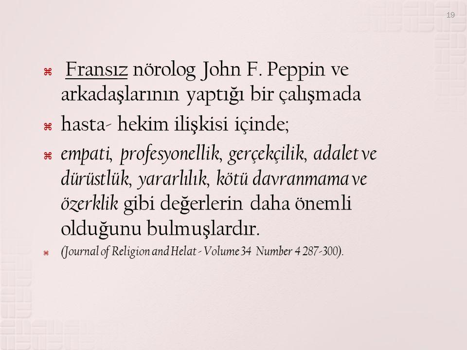  Fransız nörolog John F.
